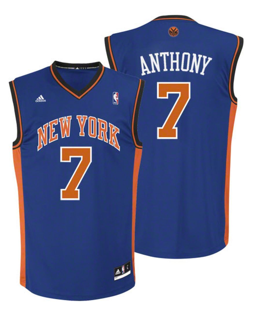finest selection 6c95d 313dd adidas Men's New York Knicks Replica Jersey - Anthony S