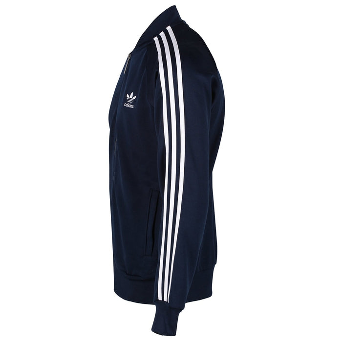 ... adidas Originals Superstar Track Top - Navy - side ...