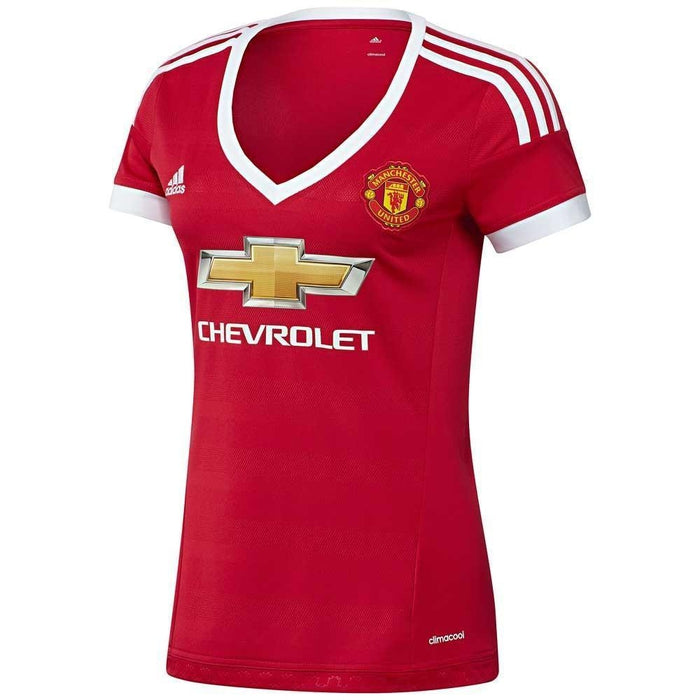 brand new ec8bf 113c8 adidas Womens Manchester United MUFC Home Shirt - Red