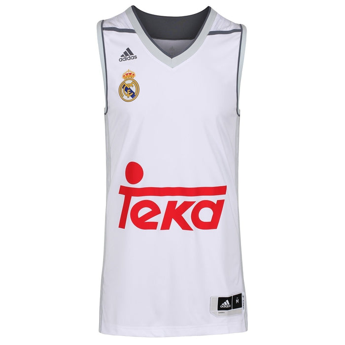 innovative design e9c40 6e811 adidas Real Madrid Replica Basketball Jersey - White