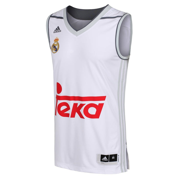innovative design 2e676 77c39 adidas Real Madrid Replica Basketball Jersey - White