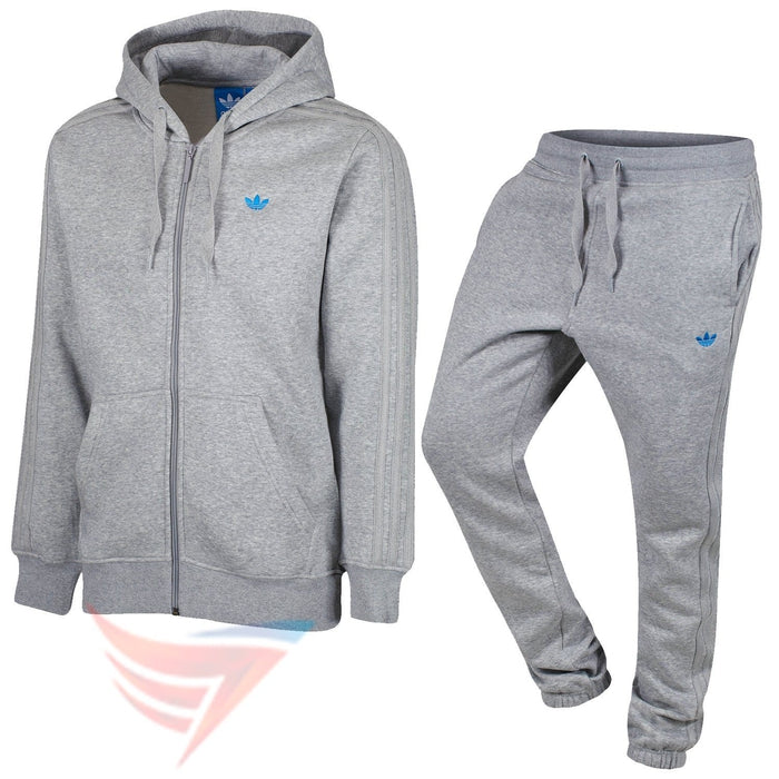a458867797fd adidas Originals Classic Trefoil Fleece Tracksuit - Grey - Trade Sports