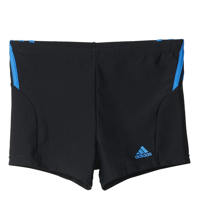 huge discount e6ed6 a1766 adidas Infinitex Swim Boxers Black with 3 Blue Stripes - Front