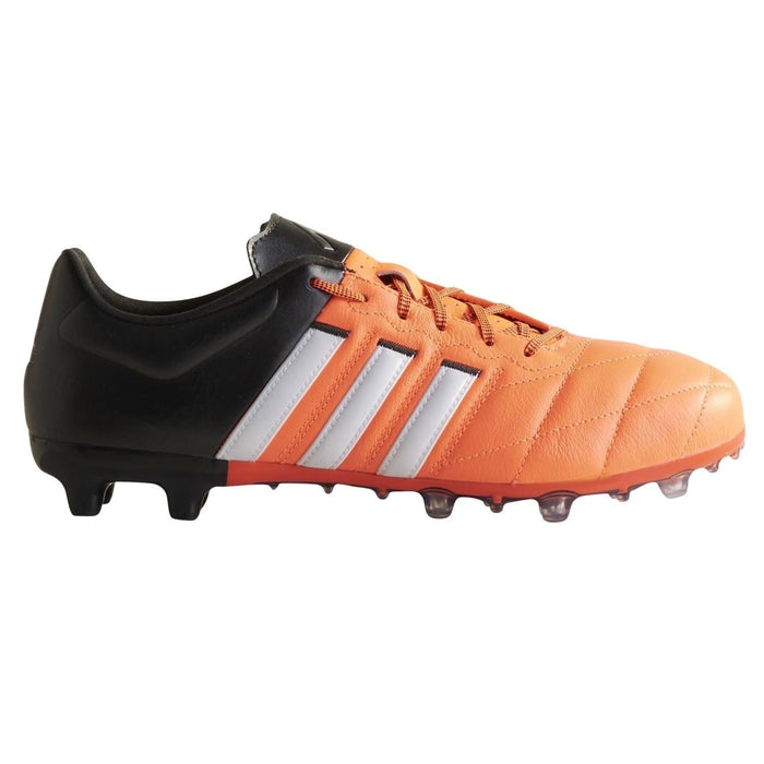 194549916 ... adidas ACE 15.2 FG AG Leather Football Boots Orange Black White Main ...