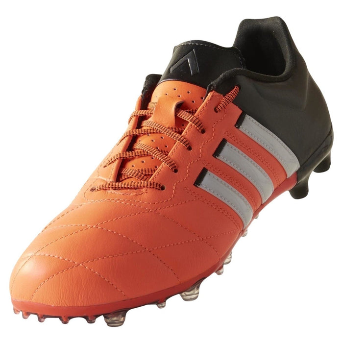 8858f0757 ... adidas ACE 15.2 FG AG Leather Football Boots Orange Black White Front  Profile ...