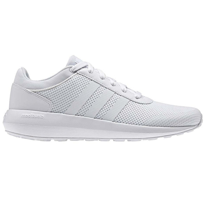 ... adidas Neo Cloudfoam Race Trainers - White - front ... f4c4a7007