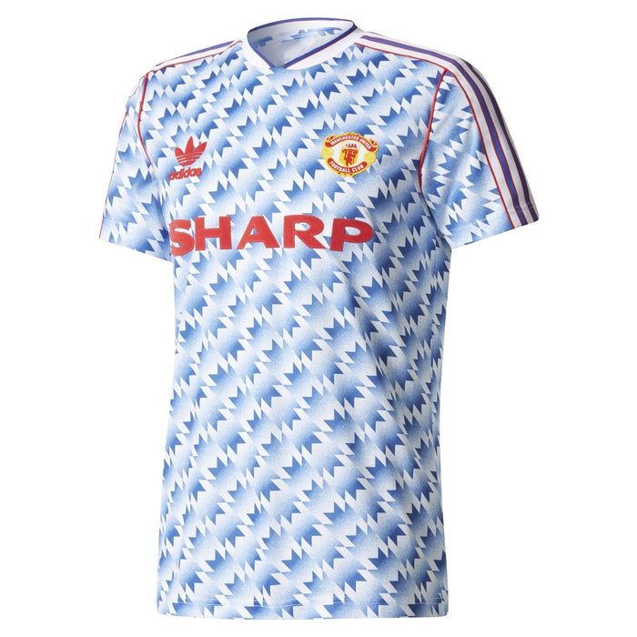 97419d9113b ... adidas Originals Men s Manchester United 1990 92 Retro Shirt - Blue  Main ...