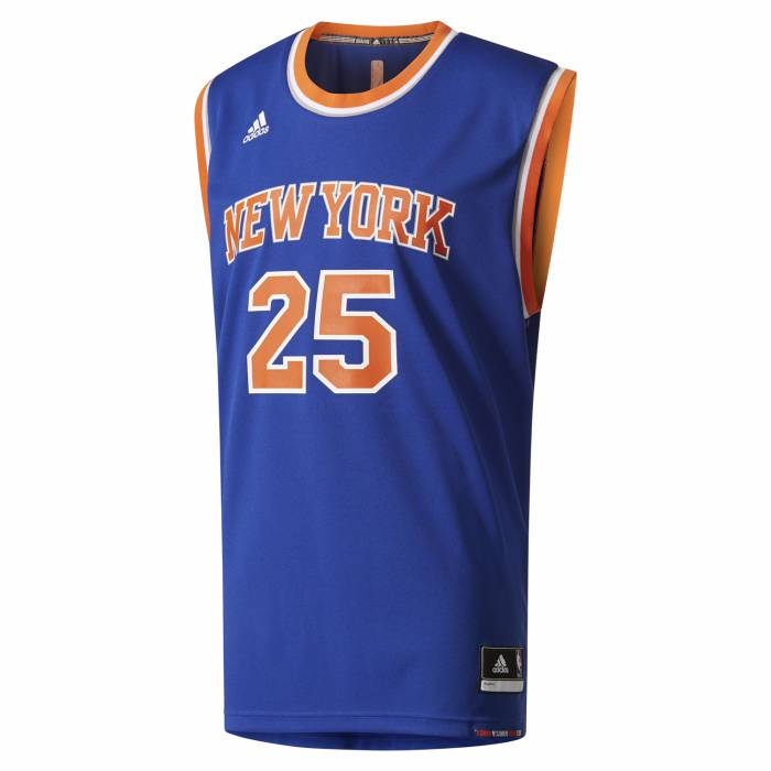 62db83601 adidas Men s New York Knicks Rose Retro Jersey - Blue Front ...