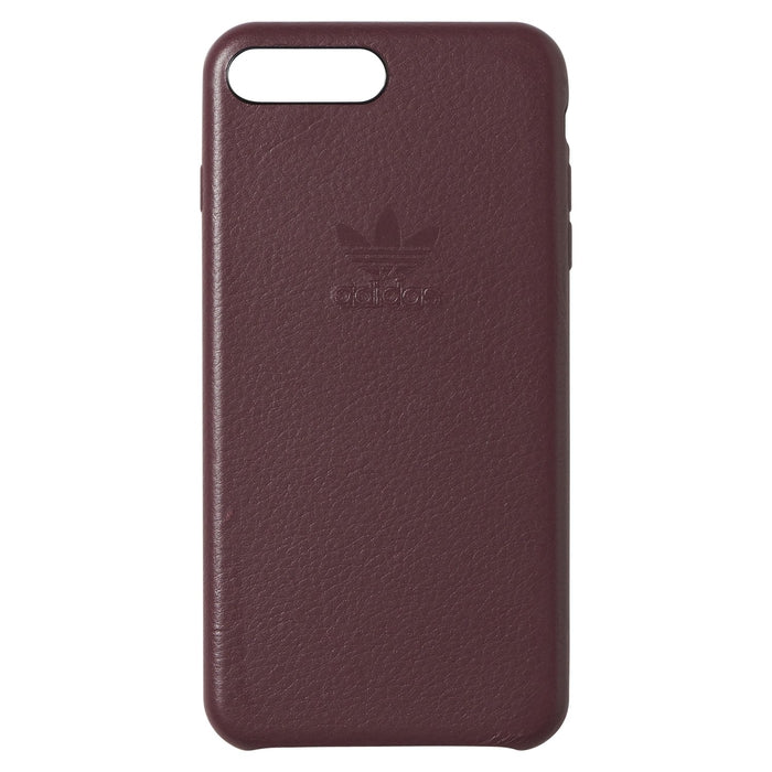d74a65b1ac8b ... adidas Originals iPhone 7 Plus Leather Phone Case - Burgundy Front ...