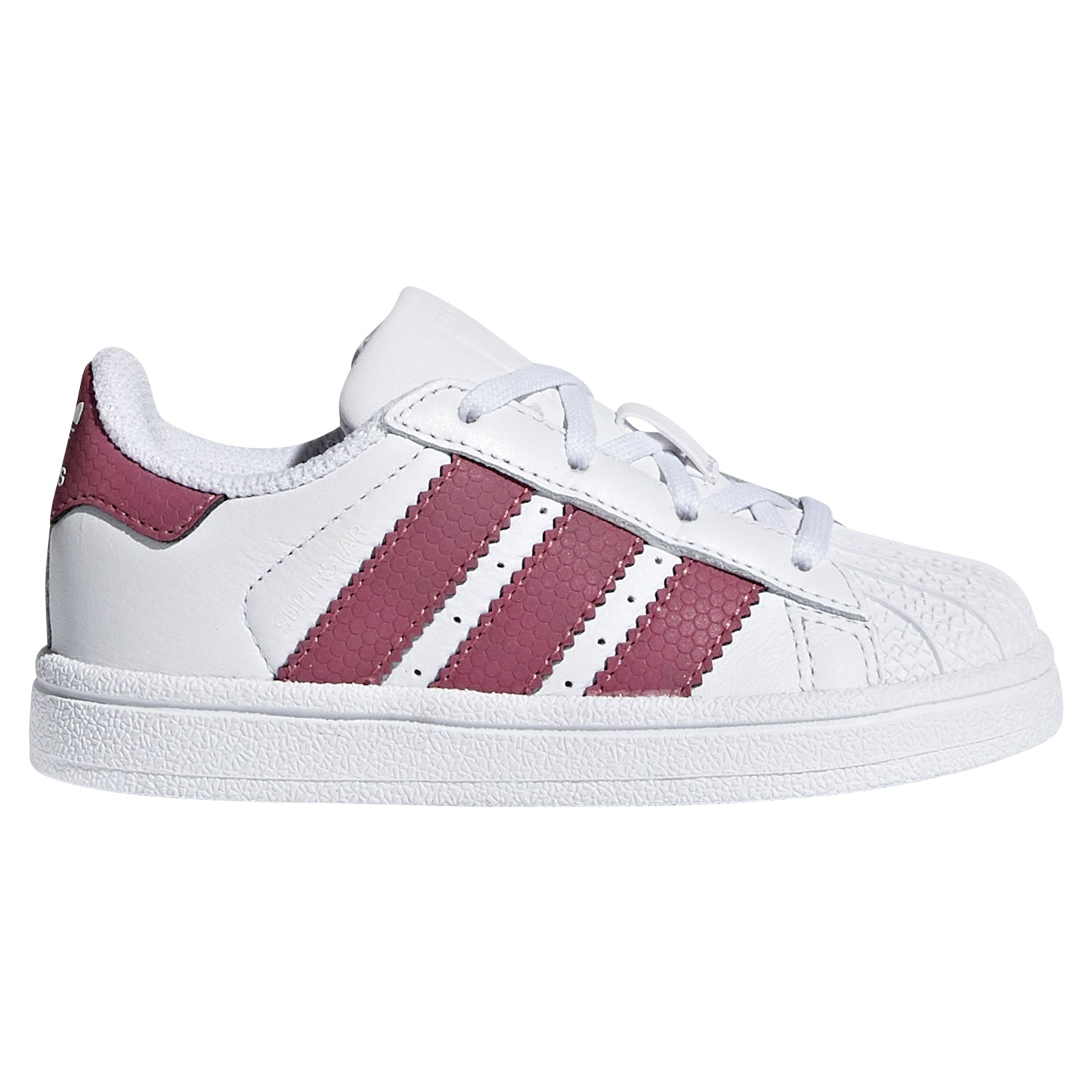 save off 6900c 37fd6 adidas Originals Infants Laced Superstar Trainers -White