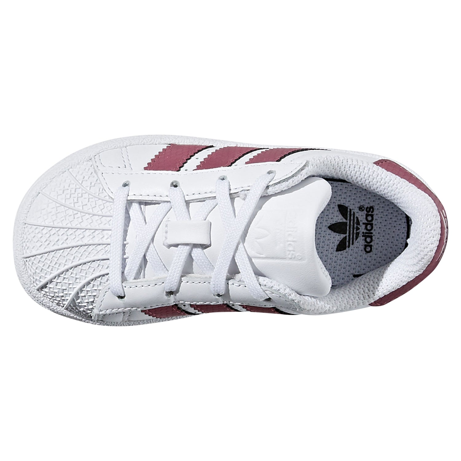 save off 741a7 16393 adidas Originals Infants Laced Superstar Trainers -White