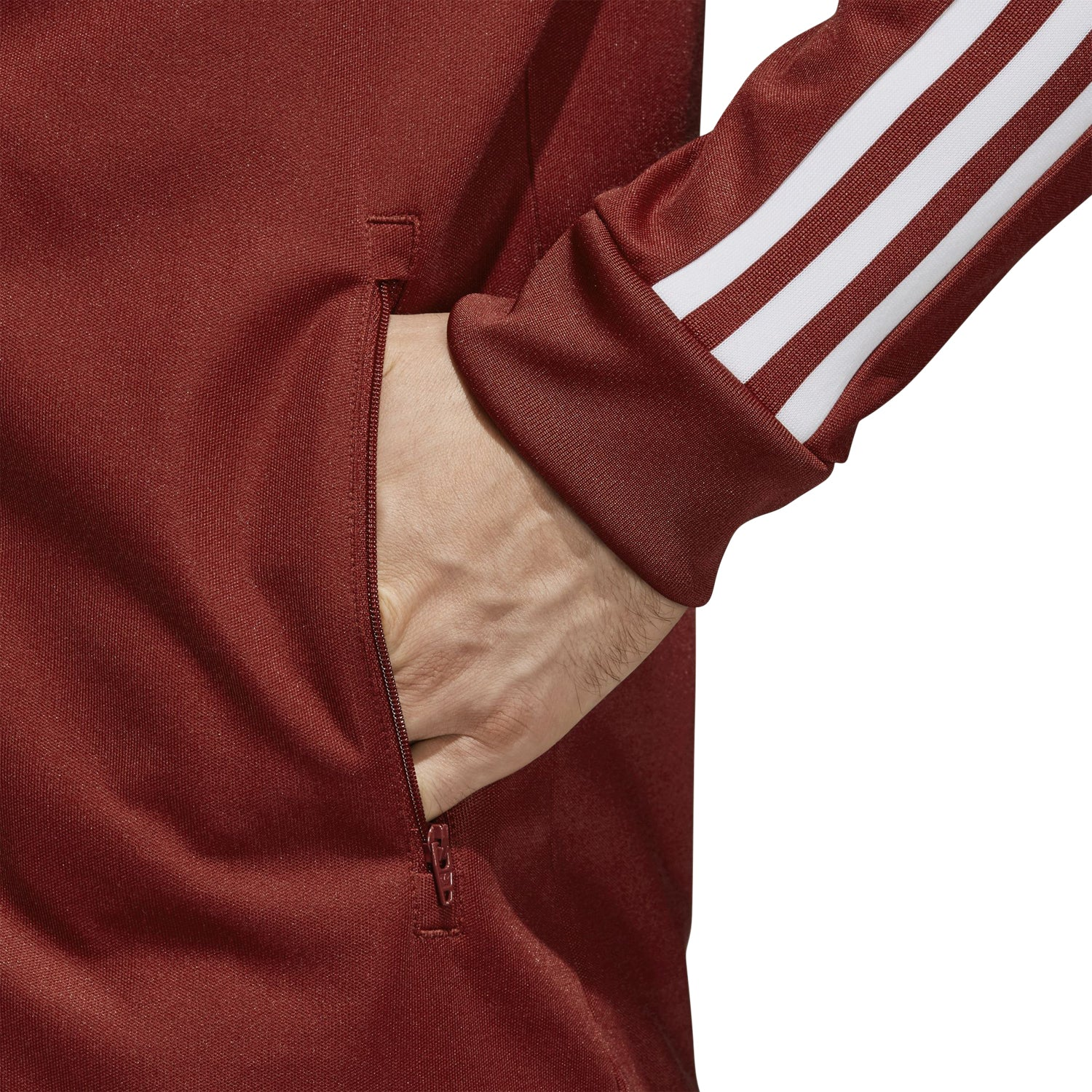 adidas Originals Men's Beckenbauer Track Jacket Rust Red