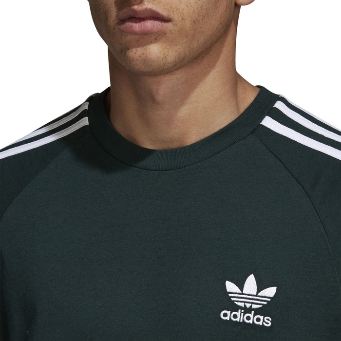 100% authentic 3e14b a699d ... adidas Originals Men s Adicolor California T-Shirt - Green Crew Neck ...