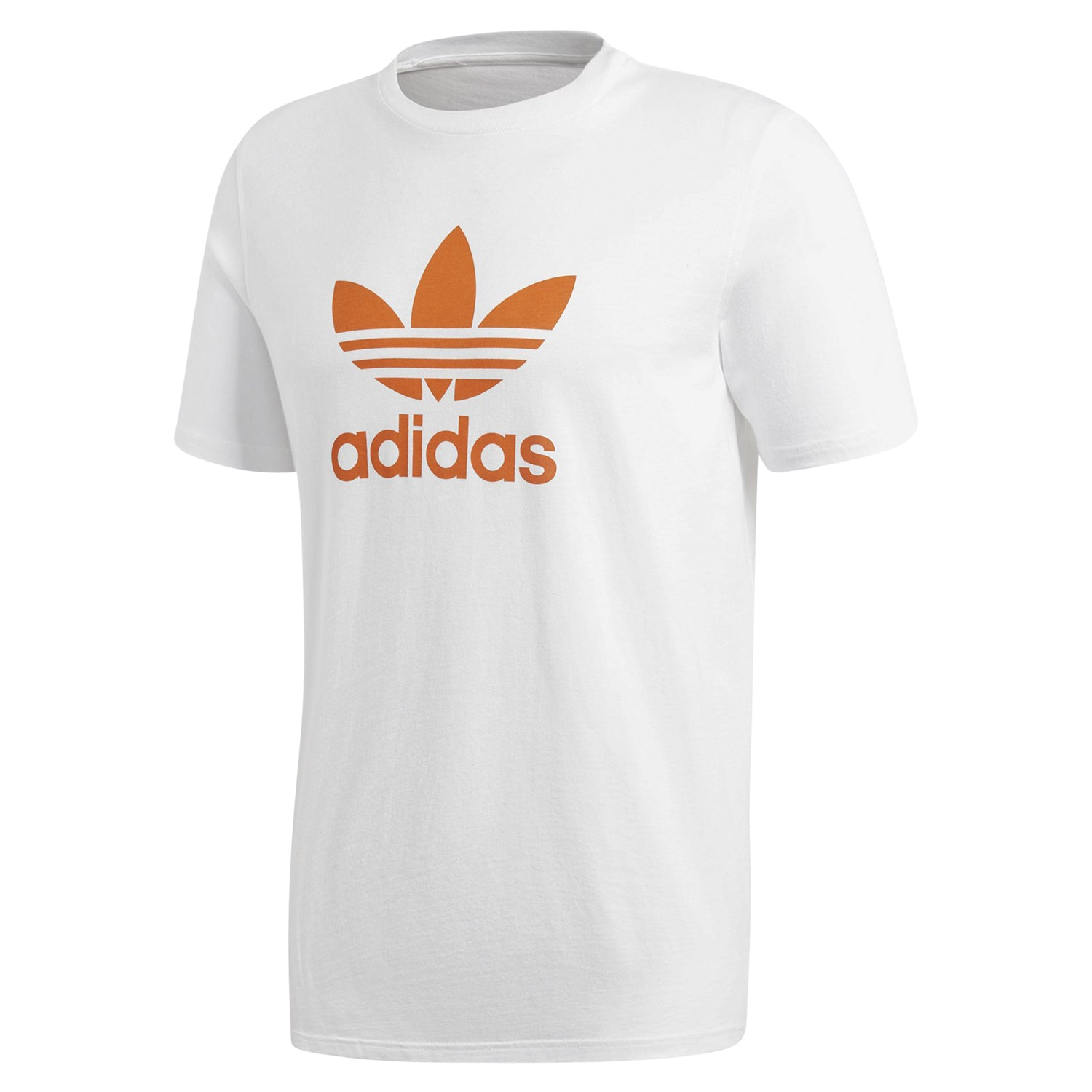 online shop new products lower price with adidas Originals Men's Crew Neck Trefoil T-Shirt - White