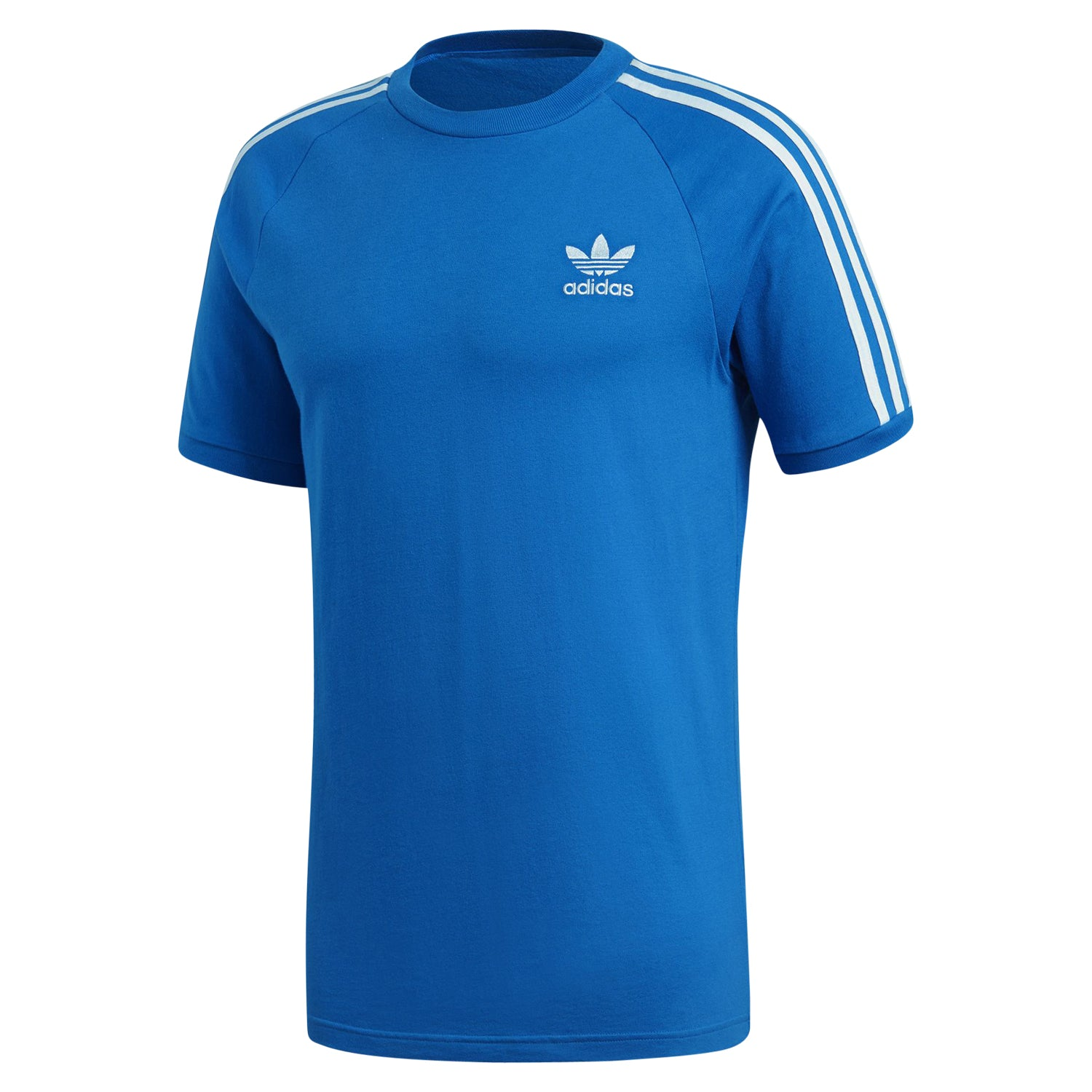 design intemporel 35b8f 9fb80 adidas Originals Men's 3 Stripe T-Shirt - Bluebird