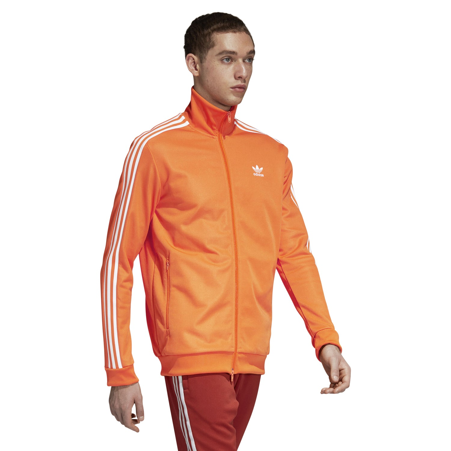 adidas Originals Men's Beckenbauer Track Jacket Orange