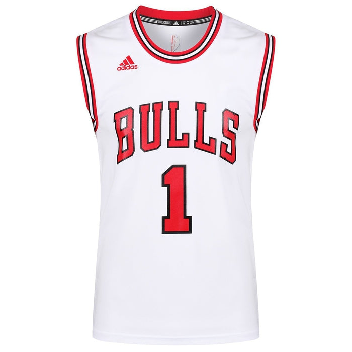 2807f032d9a ... adidas Chicago Bulls Derrick Rose Jersey - White front 1 ...