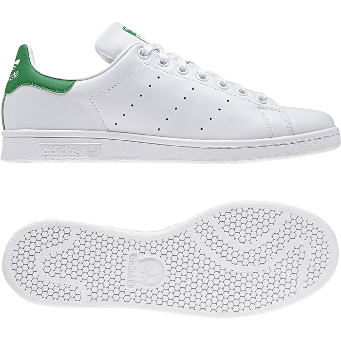 huge selection of 200be c9316 adidas Originals Stan Smith -White Green - Full ...