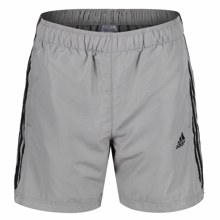 8c9ead6db24 adidas 3 Stripe Men s Training Shorts Grey Black - Front S17883 ...