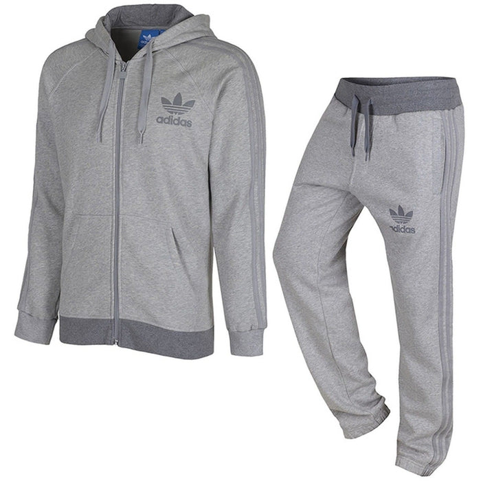 f743f856f4f1 adidas Originals Trefoil Fleece Tracksuit - Grey - Trade Sports