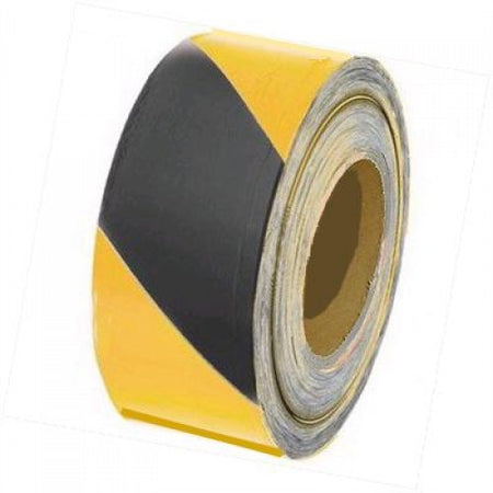 Black/Yellow Adhesive Barrier Marking Tape - 70mm x 500m