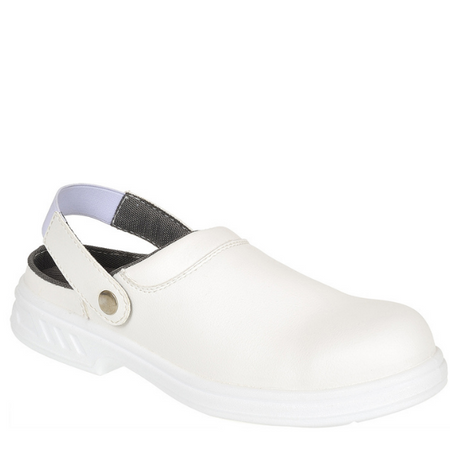 White Safety Clog