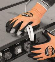 TG3220 Fingerless PU Coasted Work Gloves