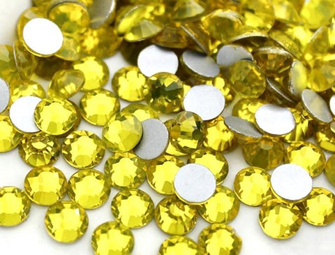 Citrine yellow Non Hotfix Flat Back Rhinestones