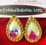 Earrings size 17x28mm STUDS-Rhinestone HQ