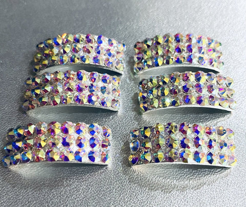 Annie Buckle. Irish Dancing Pump light soft shoe Buckles Set of 6 .Triple row Design.  Reel pomp
