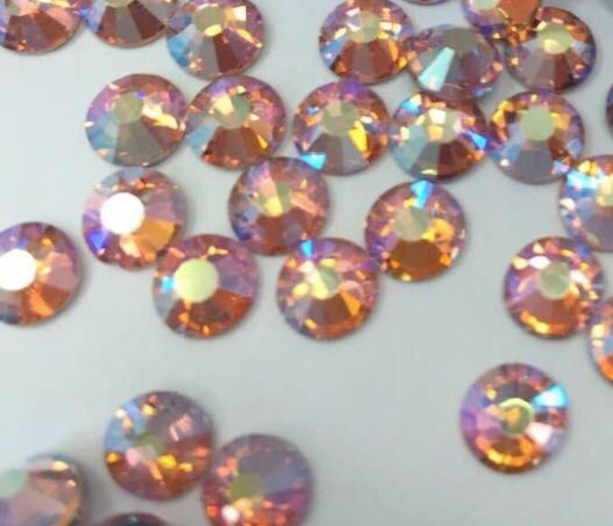 Light Peach AB Non Hotfix Rhinestones-Rhinestone HQ