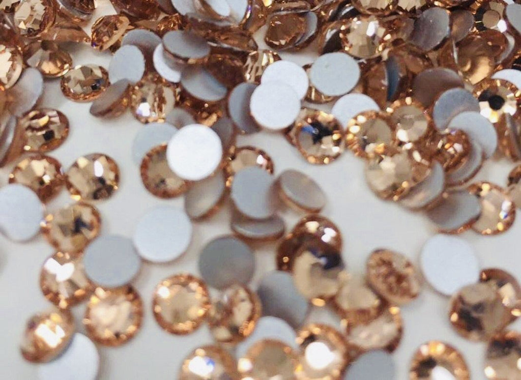 Light Peach Non Hotfix Rhinestones-Rhinestone HQ