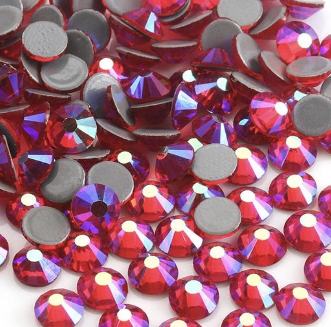 Light Siam AB Red Hotfix Rhinestones-Rhinestone HQ