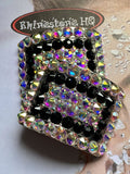 Irish Dance Shoe Buckles with colour choice and Ab - Rhinestone HQ