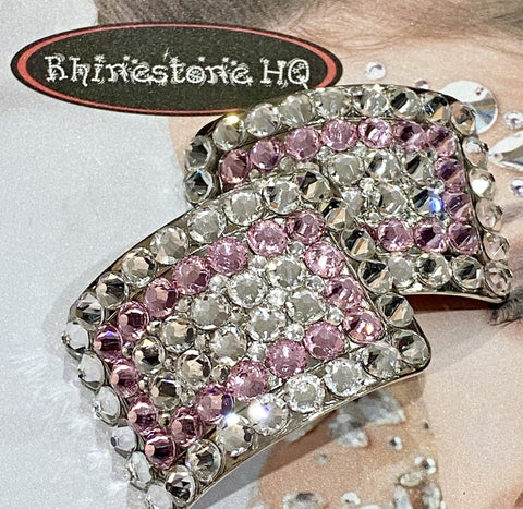 Irish Dance Shoe Buckles with colour and Clear