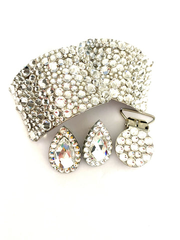 Ultra Buckles gift set  clear crystal
