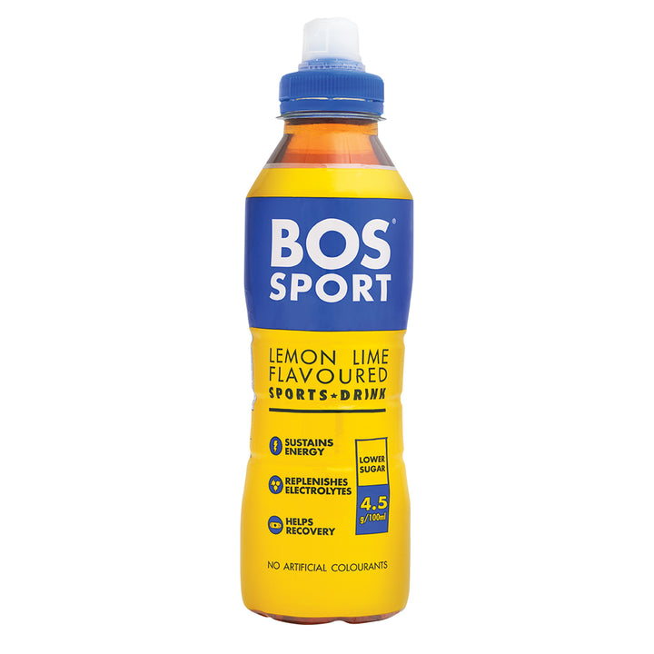 BOS Sport Lemon + Lime 500ml - 1 x Case of 6