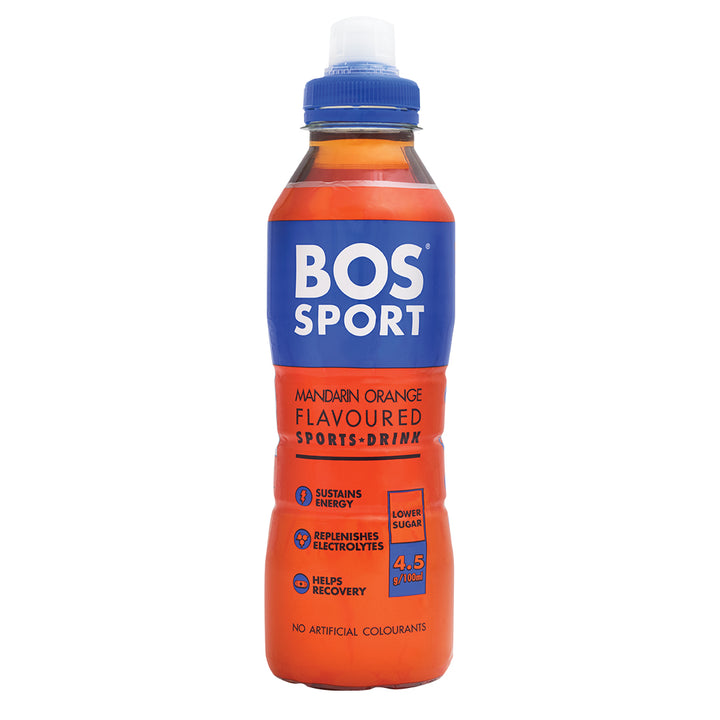 BOS Sport Mandarin Orange 500ml - 1 x Case of 6