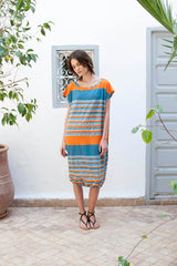 Monorails & Satellites UK Striped Oversized Designer Beach Cover Up