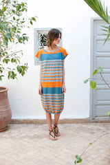 Monorails & Satellites UK Striped Oversized Designer Beach Cover Up From Front