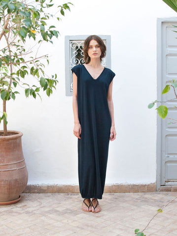 Renée Cotton Navy Maxi Beach Dress
