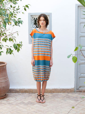 Eve Multi Stripe Midi Beach Dress