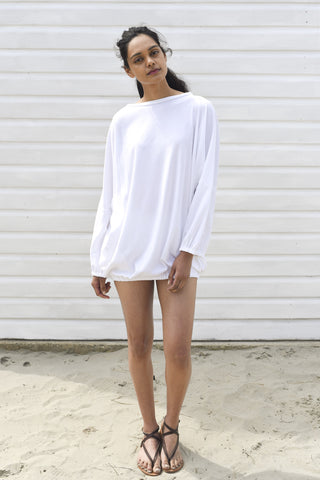 Coco White Cotton Oversized Cover up