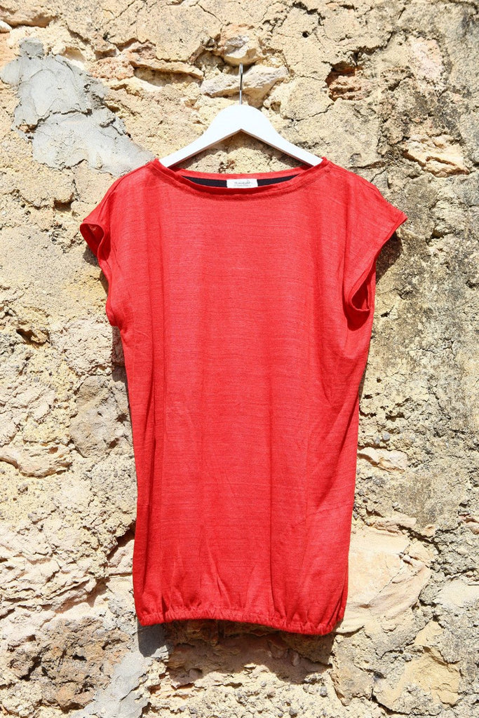 Maes Red Cotton Mini Cover up