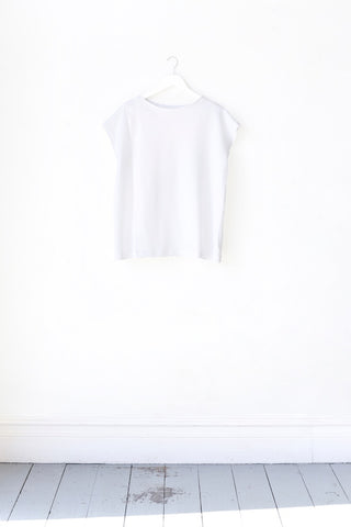 Bella White Cotton Short Sleeved Wrap Blouse - only 1 left, BUY NOW!