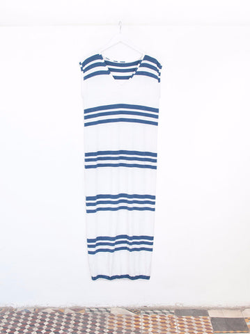 Renée Trio Navy Stripe Maxi Beach Dress