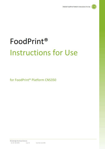 FoodPrint® Equipment Package