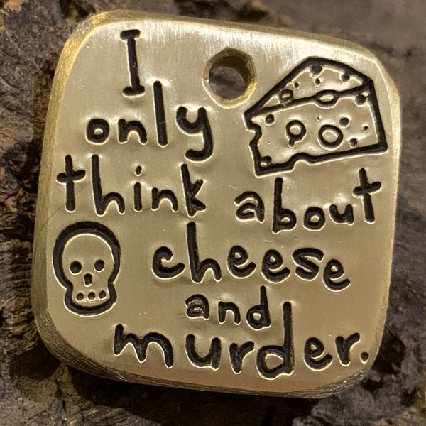 "1.1"" brass - cheese and murder"