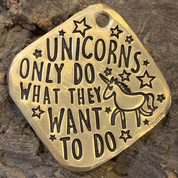 "1.25"" brass - the truth about unicorns"