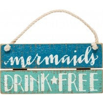 Slat sign - mermaids drink